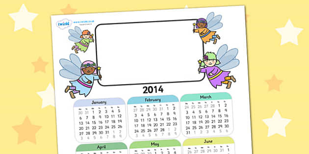 2014 Fairy Themed Editable Calendar - fairy, editable calendar, calendar, editable, themed calendar, dates, photo calendar, themed editable calendar