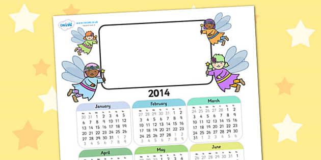 2014 Fairy Themed Editable Calendar - fairy, editable calendar, calendar, editable, themed calendar, dates, photo calendar, themed editable calendar