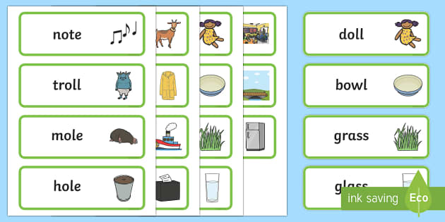 EYFS The Three Billy Goats Gruff Rhyming Word Cards