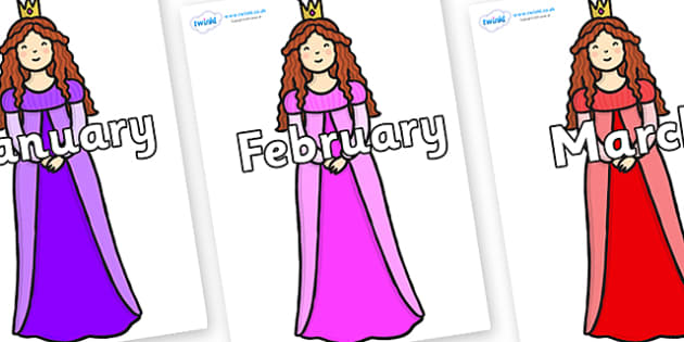 Months of the Year on Sleeping Beauty - Months of the Year, Months poster, Months display, display, poster, frieze, Months, month, January, February, March, April, May, June, July, August, September