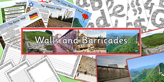 Walls and Barricades Display Pack - walls, barricades, display pack