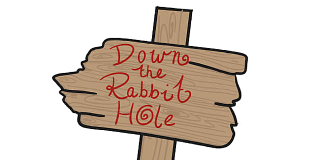 Down the Rabbit Hole Sign Display Prop - alice in wonderland, down the rabbit hole sign, down the rabbit hole sign prop, alice in wonderland props, sign