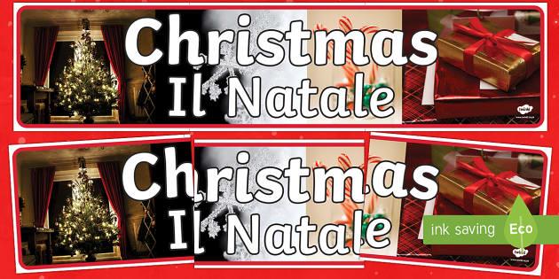 Christmas Photo Display Banner English/Italian - Christmas Photo Display Banner - christmas, photo display banner, photo, display banner, banner, ban