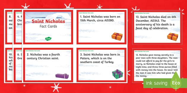 Saint Nicholas Fact Cards