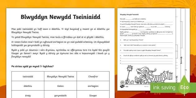 Blwyddyn Newydd Tseiniaidd Cardiau Ffeithiau Gwahaniaethol - Blwyddyn Newydd Tseiniaidd, Cardiau Ffeithiol,Darllen a Deall,Welsh