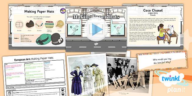 PlanIt - LKS2 Art - European Art Lesson 5: Making Paper Hats Lesson Pack