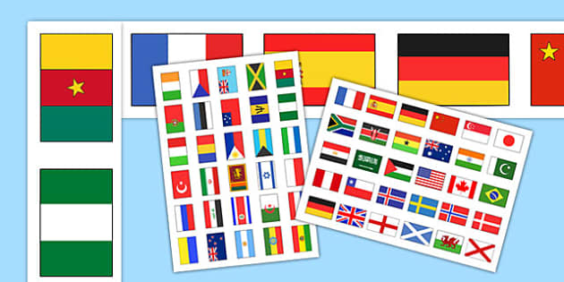 Flags of the World Display Borders - Flags of the world, flags, world, country, countries, display border, classroom border, border, all around the world, worldwide, flag, around the world, globe