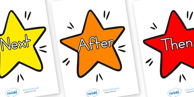 Sentence Starters on Stars - sentence, sentence starters, stars