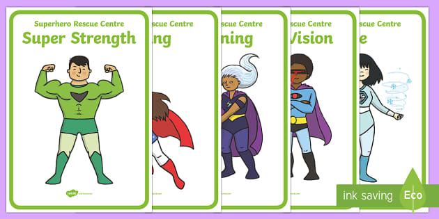 Superhero Rescue Centre Role Play Display Posters - superhero, rescue centre, role play, display posters, superhero posters, superhero role play, posters