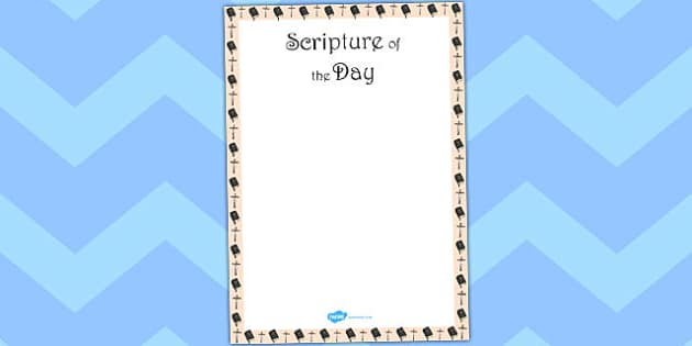 Scripture of the Day Editable Poster - scripture, editable, poster