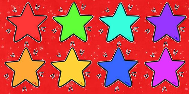 Editable Display Stars - Editable stars, star, stars, editable display, editable display posters, labels, child name label, printable labels