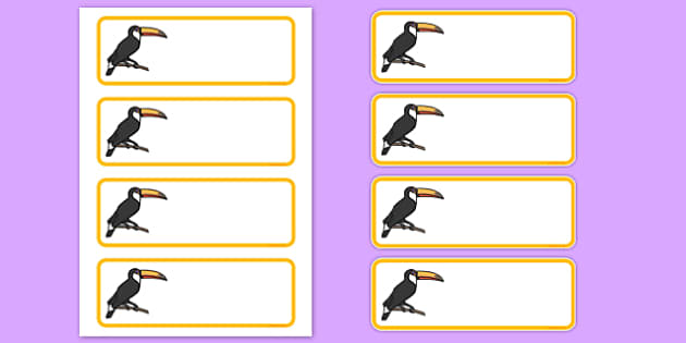 Toucan Editable Drawer Peg Name Labels - toucan, editable, drawer, peg, name, labels, display