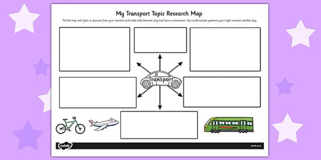 Transport Topic Research Map - research map, research, transport