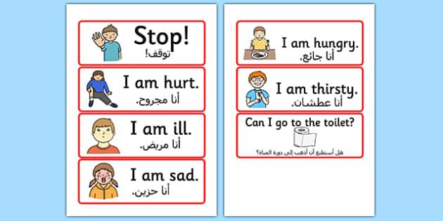 مفردات البقاء إنجليزي عربي
