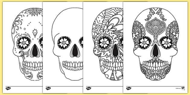 Day of the Dead Mindfulness Colouring Activity