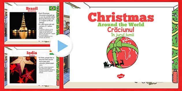 EYFS Christmas Around the World PowerPoint Romanian Translation - romanian, eyfs, christmas, around the world, powerpoint