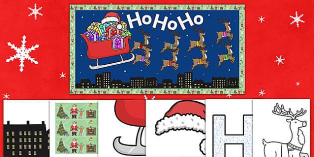 Ready Made Santa Sledge Christmas Display Pack - ready made