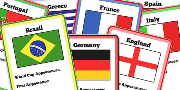 Blank World Cup 32 Countries Card Game - football, sport