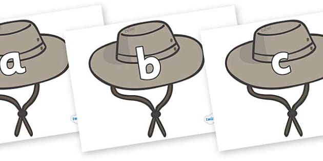 Phase 2 Phonemes on Cowboy Hats - Phonemes, phoneme, Phase 2, Phase two, Foundation, Literacy, Letters and Sounds, DfES, display