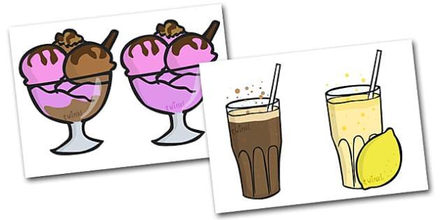Dibujos de juego de rol de cafetería - menú, carta, cafetería