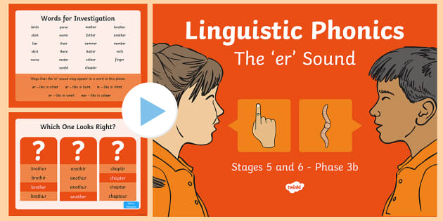 Northern Ireland Linguistic Phonics Stage 5 and 6 Phase 3b, 'er' Sound PowerPoint
