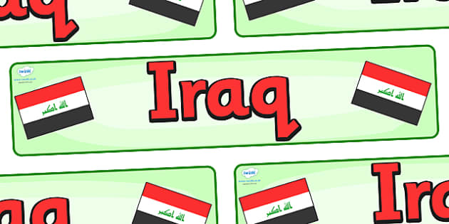 Iraq Display Banner - Iraq, Olympics, Olympic Games, sports, Olympic, London, 2012, display, banner, sign, poster, activity, Olympic torch, flag, countries, medal, Olympic Rings, mascots, flame, compete, events, tennis, athlete, swimming