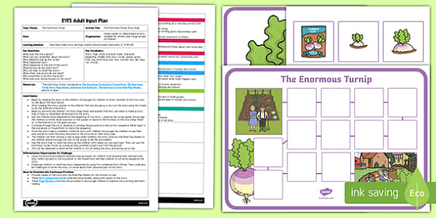 EYFS The Enormous Turnip Story Map Adult Input Plan and Resource Pack