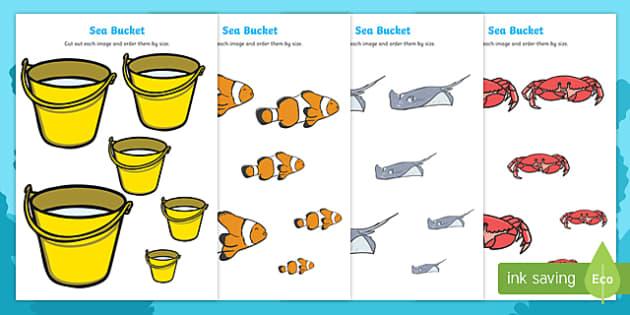 Sea Bucket Size Ordering - billy's bucket, sea bucket, size ordering, size, order, ordering