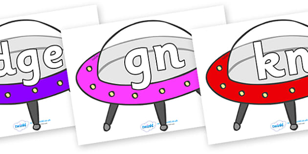 Silent Letters on Spaceships - Silent Letters, silent letter, letter blend, consonant, consonants, digraph, trigraph, A-Z letters, literacy, alphabet, letters, alternative sounds