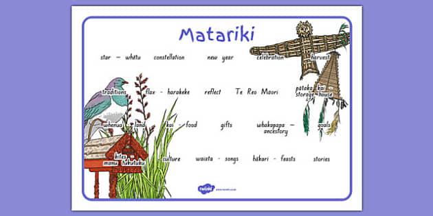 Matariki Word Mat - nz, new zealand, matariki, word mat, word, mat
