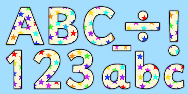 Star of the Week Small Lowercase Display Lettering-star of the week, lowercase, display lettering, lettering for display, star of the week lettering, literacy