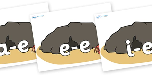 Modifying E Letters on Caves - Modifying E, letters, modify, Phase 5, Phase five, alternative spellings for phonemes, DfES letters and Sounds