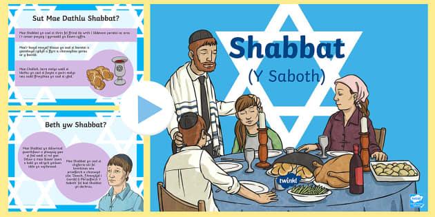 Pŵerbwynt am Shabbat (Y Saboth)  - shabatt, y saboth, Iddewiaeth, Addysg Grefyddol