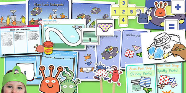 Childminder Resource Pack to Support Teaching on Aliens Love Underpants - australia