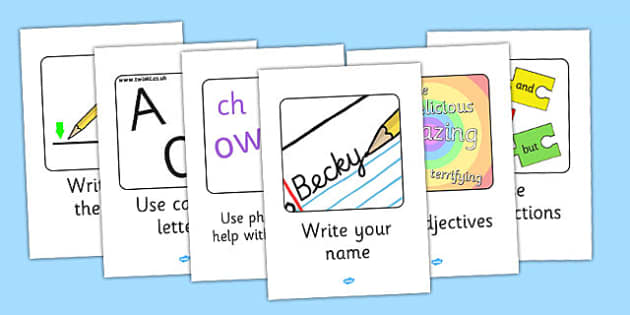 Writing Target Display Posters - writing, target, display, poster