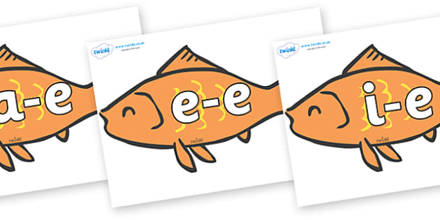 Modifying E Letters on Goldfish - Modifying E, letters, modify, Phase 5, Phase five, alternative spellings for phonemes, DfES letters and Sounds