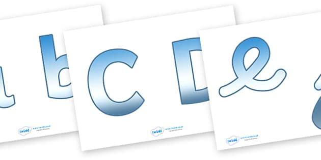 Display Lettering & Symbols (Under the Sea) - Display lettering, Under the Sea, Sea, display letters, alphabet display, letters to cut out, letters for displays, coloured letters, coloured display, coloured alphabet