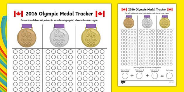 Canada Olympic Medal Count and Add Activity Sheet, worksheet