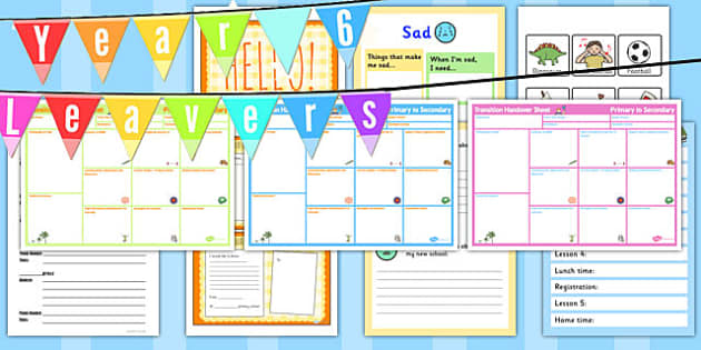 SEN Year 6 Transition Resource Pack - year 6, transition, sen