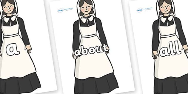100 High Frequency Words on Florence Nightingale - High frequency words, hfw, DfES Letters and Sounds, Letters and Sounds, display words