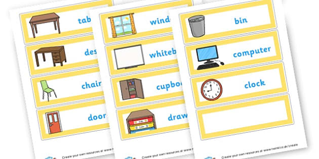 Class Furniture - Classroom Areas Primary Resources, Posters, Areas, Zones, Banners