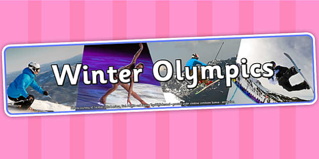Winter Olympics Photo Display Banner - winter olympics, winter, photo display banner, display banner, photo banner, banner, banner for display,  photos