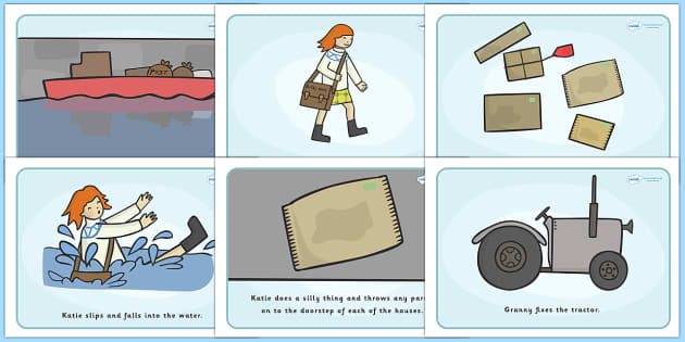 Visual Aids to Support Teaching on Katie Morag Delivers The Mail - Katie Morag, Mairi Hedderwick, story, scotland, scottish, book, resources, story book, story resources