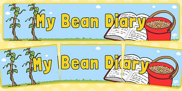My Bean Diary Display Banner - my bean, diary, display banner