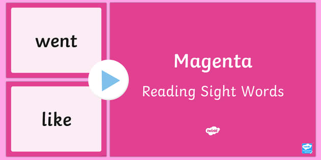 New Zealand Magenta Reading Sight Words PowerPoint