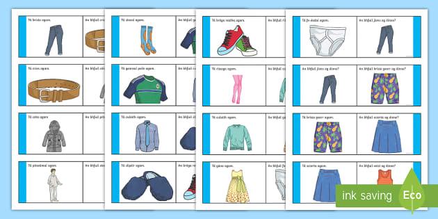 Éadaí Loop Cards Gaeilge - Gaeilge - Éadaí, Irish, clothes, loop game, ,Irish