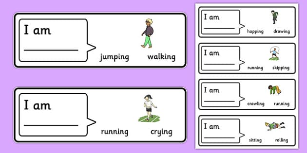 50 Find The Verb Cards With Choices - language disorder / delay, SLI, word order, subject verb sentences, ASD