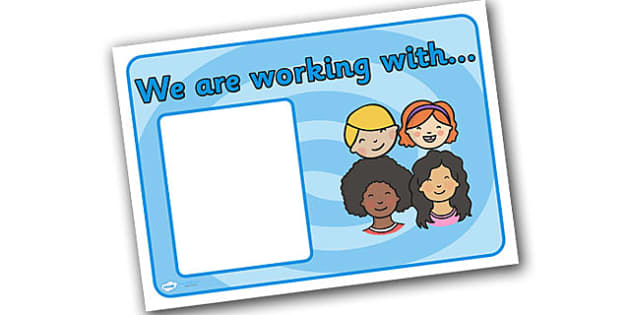 Editable 'We are Working With' Group Signs - we are working with, we are working with signs, group signs, working with group signs, working with signs