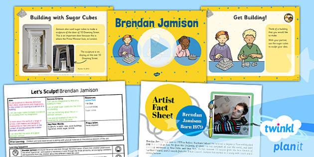 PlanIt - Art KS1 - Let's Sculpt Lesson 5: Brendan Jamison Lesson Pack