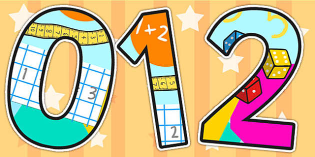 Maths Working Wall Themed Display Numbers - maths, numeracy